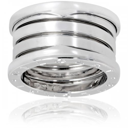 Bulgari B.ZERO1 or blanc 18 carats bague 4 bandes