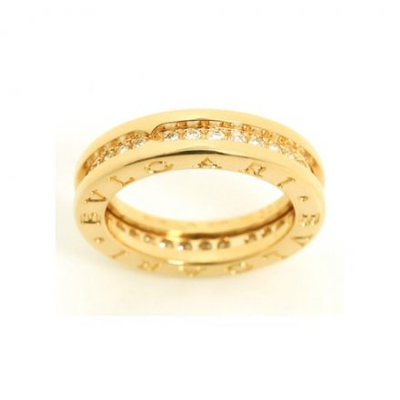 Bulgari B.ZERO1 18K yellow gold ring with diamonds