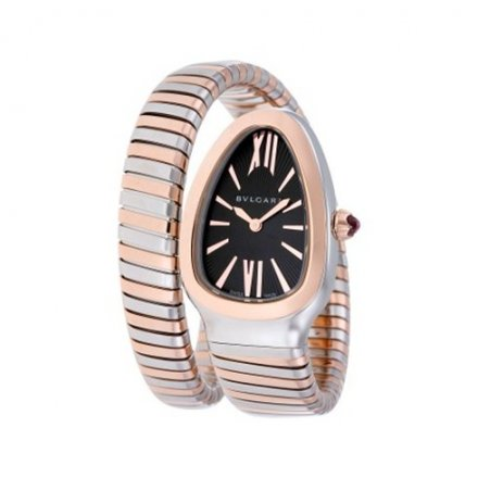 Montre Bulgari Serpenti Tubogas deux tons or rose SP35BSPG.1T