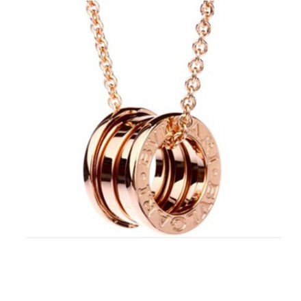 Bulgari B.ZERO1 collier pendentif or rose 18 carats