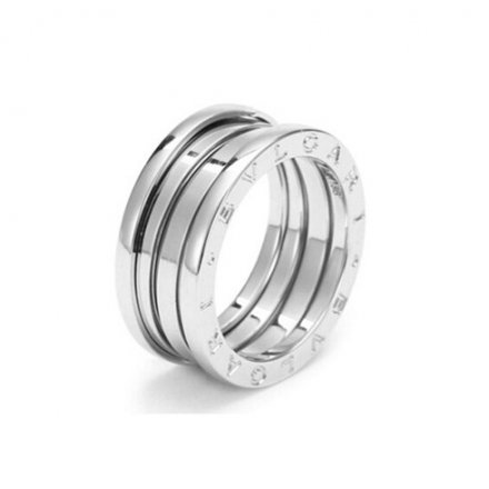 Bulgari B.ZERO1 Bague 3 bandes Or blanc 18 carats