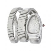 Bulgari Serpenti Tubogas acero reloj de diamantes SP35C6SDS.2T