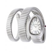 35mm Bulgari Serpenti Tubogas montre en acier SP35C6SS.2T