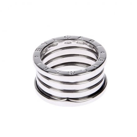 Bulgari B.ZERO1 18K white gold 4-band ring