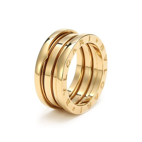 bulgari bzero1 18k yellow gold 3band ring