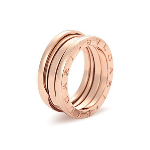 Bulgari B.ZERO1 bague 3 bandes en or rose 18 carats