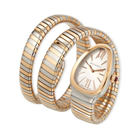 Bulgari Serpenti Tubogas montre de 35mm deux tons or rose SP35C6SPG.2T
