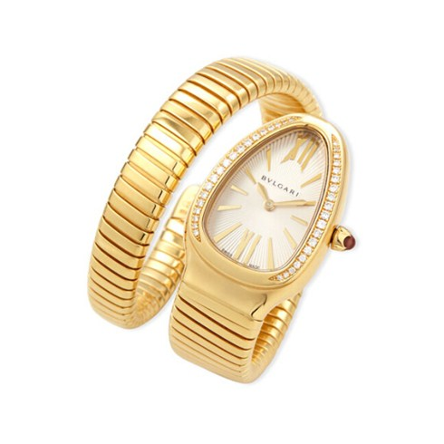 Bulgari Serpenti Tubogas yellow gold diamond watch SP35C6GDG.1T