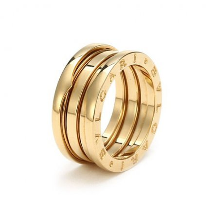 Bulgari B.ZERO1 18K yellow gold 3-band ring