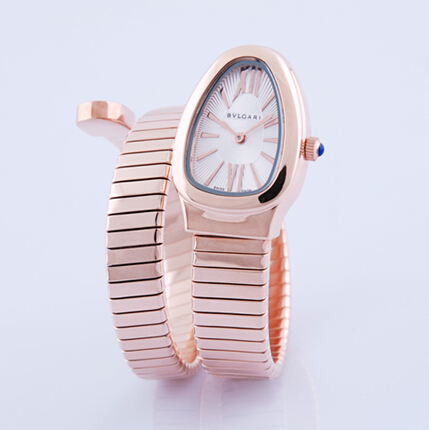Bulgari Serpenti Tubogas pink gold watch SPP35BGDG.1T